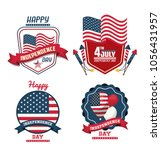 usa independence day cards | Shutterstock .eps vector #1056431957