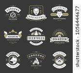 camping logos templates vector...   Shutterstock .eps vector #1056444677