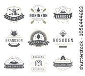 camping logos templates vector... | Shutterstock .eps vector #1056444683