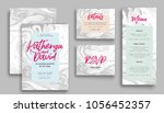 wedding invitation card suite... | Shutterstock .eps vector #1056452357