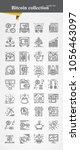 bitcoin icon set modeern thin... | Shutterstock .eps vector #1056463097
