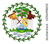 accurate coat of arms of belize.... | Shutterstock .eps vector #1056498653
