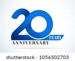 20 years anniversary... | Shutterstock .eps vector #1056502703