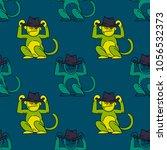 funky monkey seamless pattern.... | Shutterstock .eps vector #1056532373