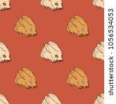 quirky rabbit seamless pattern. ... | Shutterstock .eps vector #1056534053