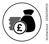 pound money bag icon | Shutterstock .eps vector #1056534923