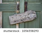 republican house sign on old...   Shutterstock . vector #1056558293
