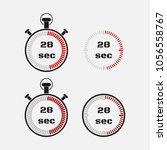 timer 28 seconds on gray... | Shutterstock .eps vector #1056558767