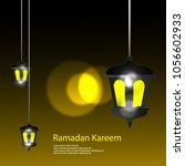 ramadan kareem illustration...   Shutterstock .eps vector #1056602933