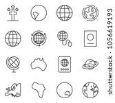 thin line icon set   around the ... | Shutterstock .eps vector #1056619193