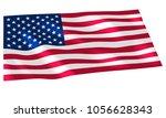 vector image of usa flag... | Shutterstock .eps vector #1056628343