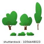 cartoon trees isolated. flat | Shutterstock .eps vector #1056648023