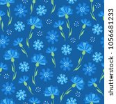seamless floral pattern with... | Shutterstock .eps vector #1056681233