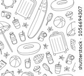 black and white seamless... | Shutterstock .eps vector #1056694307