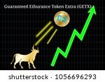 gold bull  throwing up... | Shutterstock .eps vector #1056696293