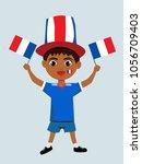 fan of france national football ...   Shutterstock .eps vector #1056709403