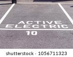 car parking space nr 10 for... | Shutterstock . vector #1056711323
