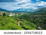tea plantations in kerala | Shutterstock . vector #1056718013