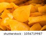 background corrugated golden... | Shutterstock . vector #1056719987