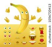 emoji  smiley creator from... | Shutterstock .eps vector #1056720413