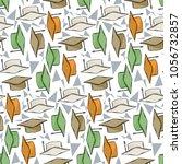 graduete cups pattern on a... | Shutterstock .eps vector #1056732857