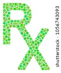 rx medical symbol mosaic of... | Shutterstock .eps vector #1056743093