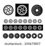 vector camera shutter apertures   Shutterstock .eps vector #105675857