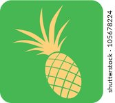 Creative Pineapple Fruit Icon - stock vector