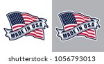 made in usa  united states of... | Shutterstock .eps vector #1056793013