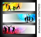 colorful website header or... | Shutterstock .eps vector #105679553