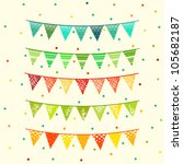 party pennant bunting. flags | Shutterstock .eps vector #105682187