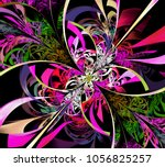 Abstract Colored Violet Fracta...