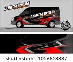 modern vehicle graphic kit.... | Shutterstock .eps vector #1056828887