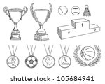 championship items vector set - stock vector