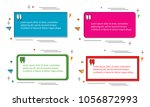 set of modern abstract doodle... | Shutterstock .eps vector #1056872993
