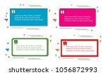 set of modern abstract doodle... | Shutterstock .eps vector #1056872993