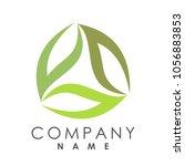 triangle leaf floral logo design   Shutterstock .eps vector #1056883853