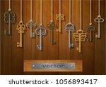 vector. keys. wall decoration ...   Shutterstock .eps vector #1056893417