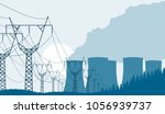 industrial background nuclear... | Shutterstock .eps vector #1056939737