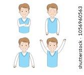 actions cartoon cute working... | Shutterstock .eps vector #1056960563