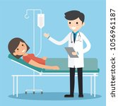 medicine concept with doctor...   Shutterstock .eps vector #1056961187