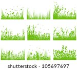 vector grass silhouette... | Shutterstock .eps vector #105697697