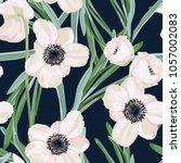 hellebore anemone christmas... | Shutterstock .eps vector #1057002083