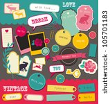 cute elements for scrapbooking. ... | Shutterstock .eps vector #105701183