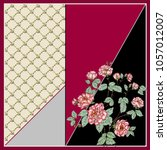 scarf colored rose . geometry...   Shutterstock . vector #1057012007