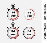 timer 34 seconds on gray... | Shutterstock .eps vector #1057021307