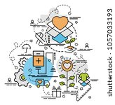 flat colorful design concept... | Shutterstock .eps vector #1057033193
