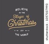 merry christmas lettering. let...   Shutterstock .eps vector #1057037993