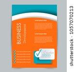 flyer template. design for a... | Shutterstock .eps vector #1057070213