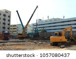 city and landscape construction ... | Shutterstock . vector #1057080437